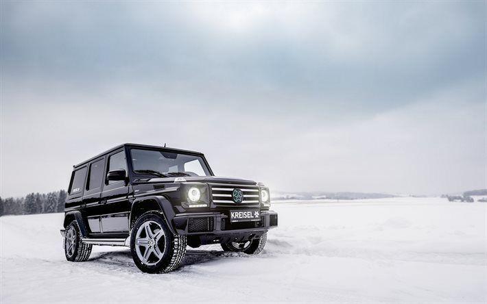 Download Wallpapers Mercedes Benz G Class W463 G55 Winter Off