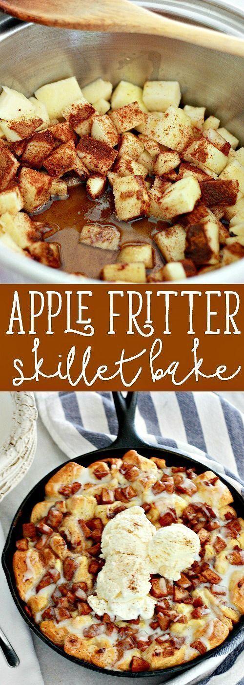 Apple Fritter Skillet Bake