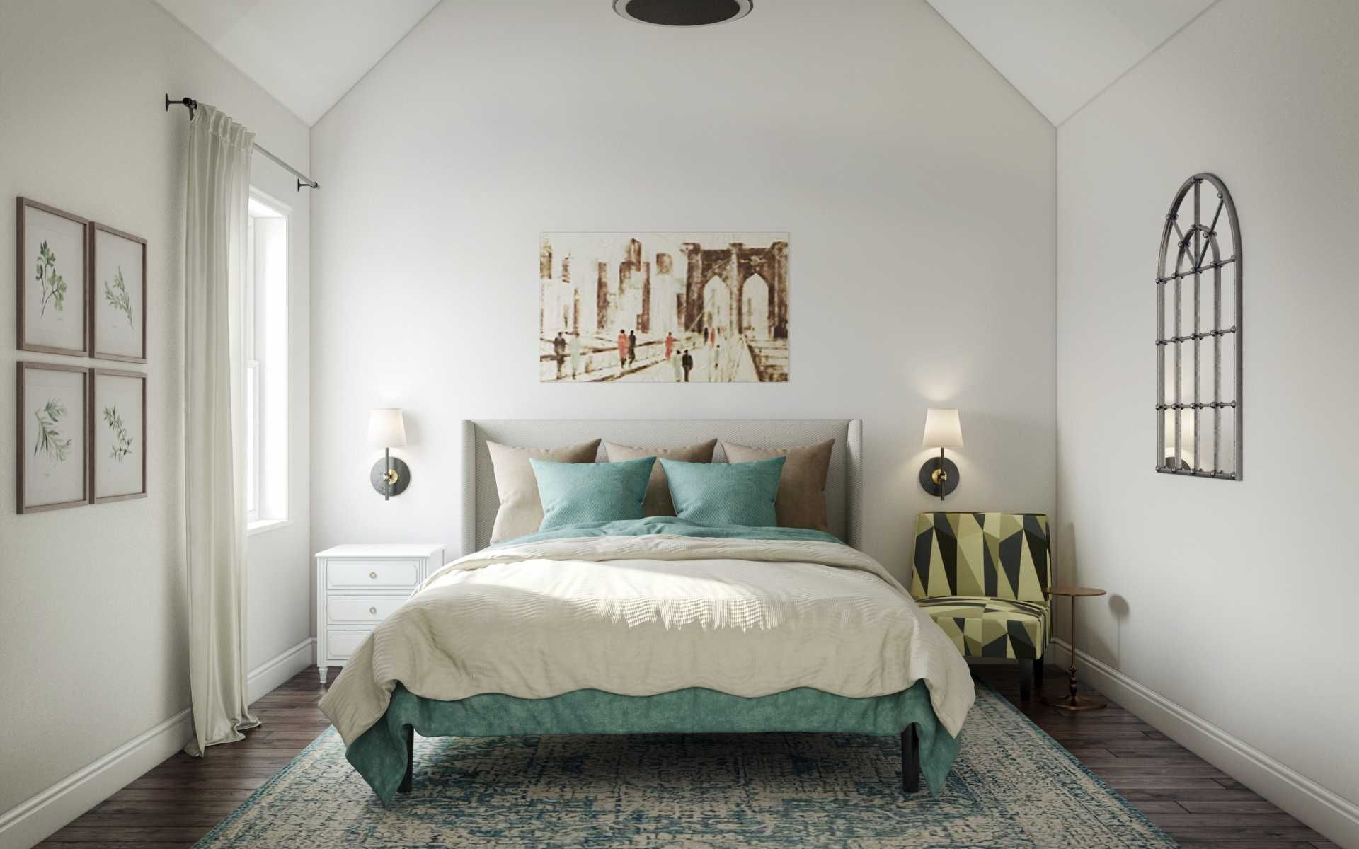 Farmhouse Midcentury Modern Bedroom Design By Havenly Interior Designer Kyla Interior Design Modern Bedroom Design Modern Bedroom