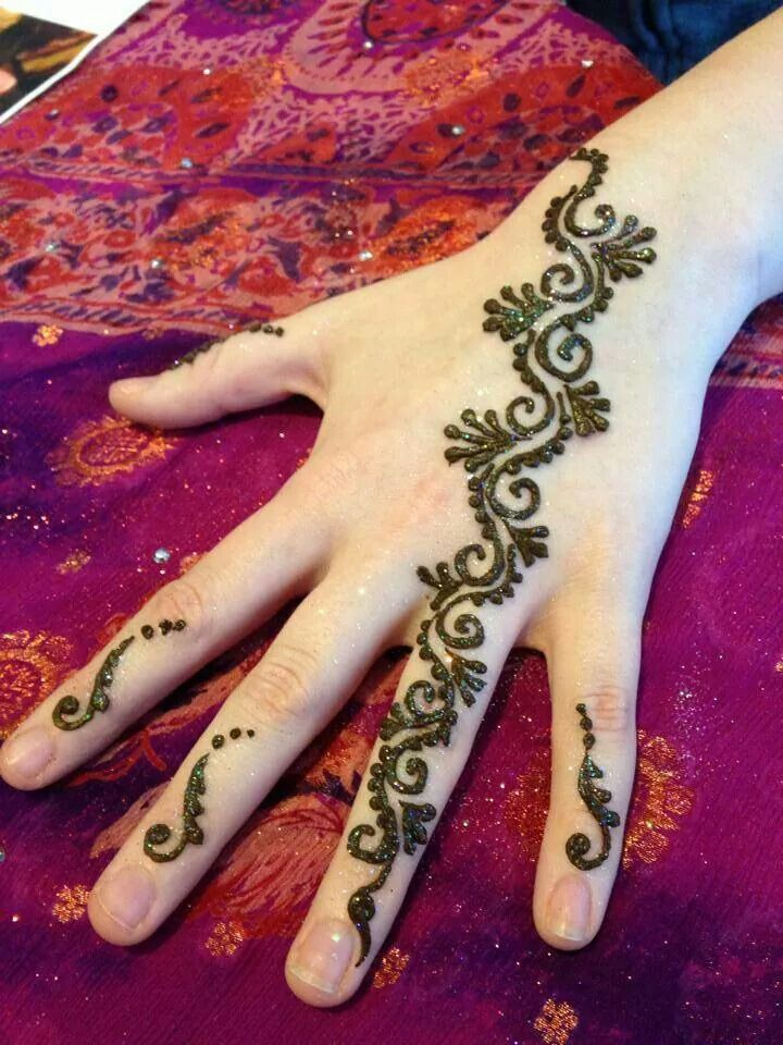 Simple Vine Design For Temporary Henna Tattoo The Henna Salon