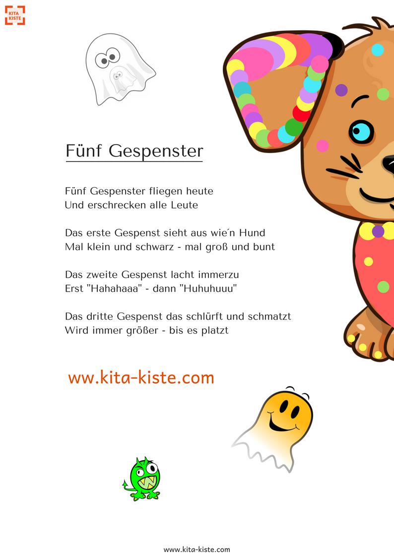 lustiges Fingerspiel zu #halloween, #fasching für #kindergarten ...