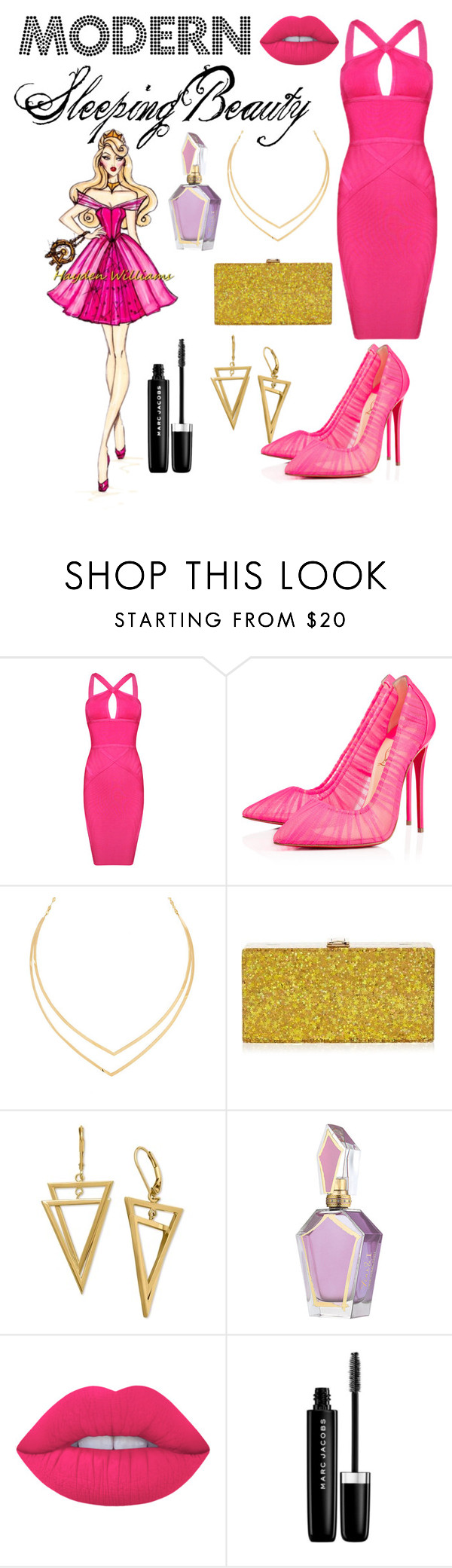 """Modern Sleeping beauty"" by vale-fer2801 on Polyvore featuring moda, Disney, Posh Girl, Christian Louboutin, Lana, Milly, Lime Crime, Marc Jacobs y modern"