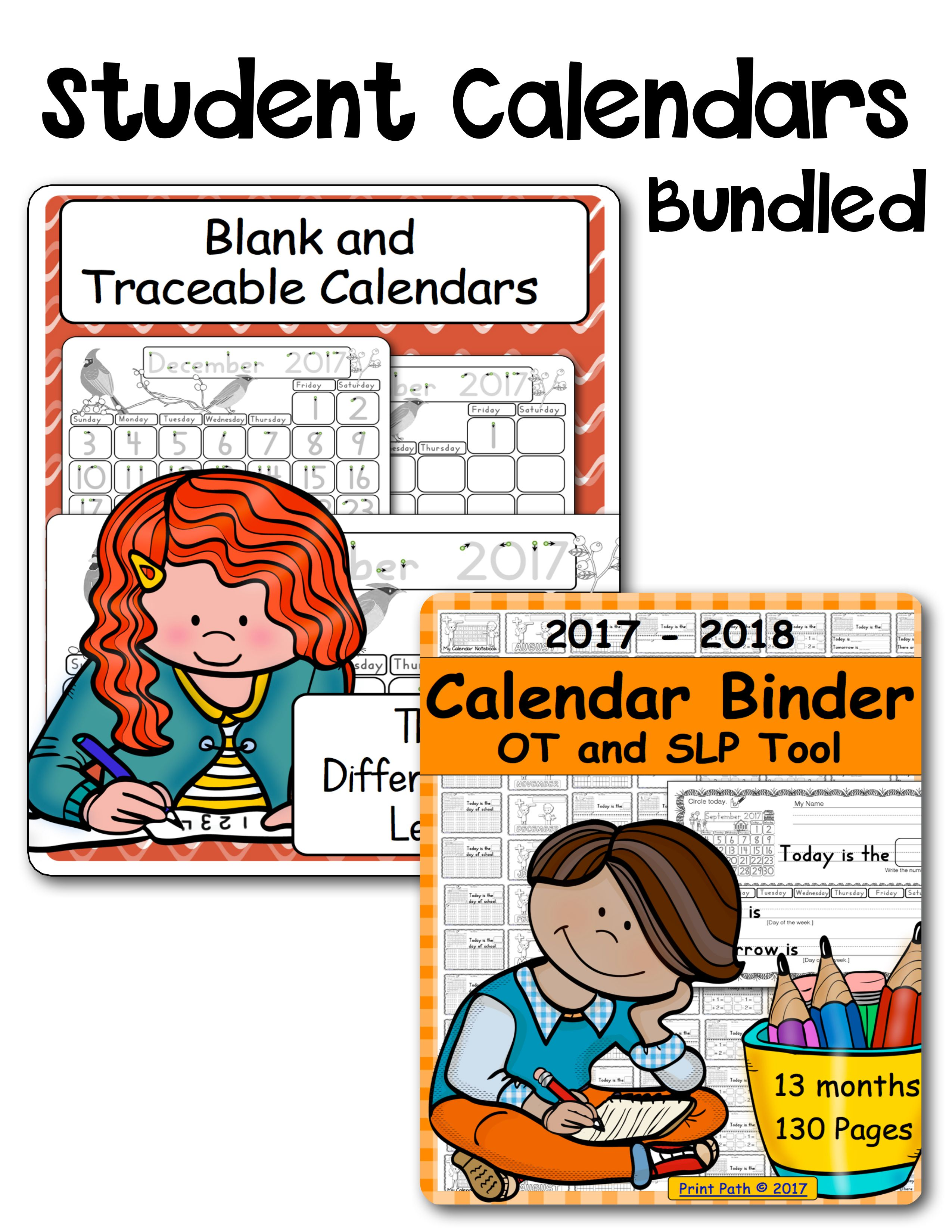 Blank And Traceable Calendars And Calendar