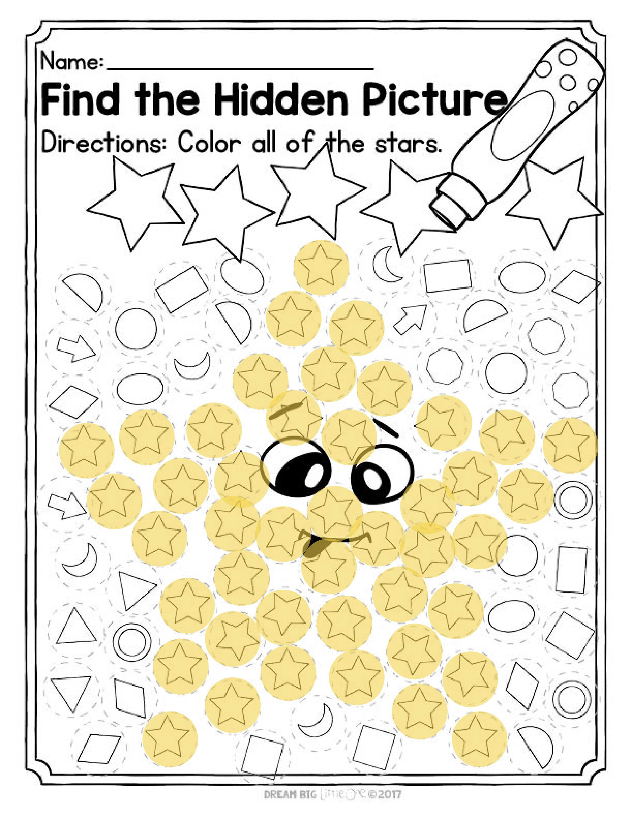 Shapes Worksheet With Dot Markers For Preschool And
