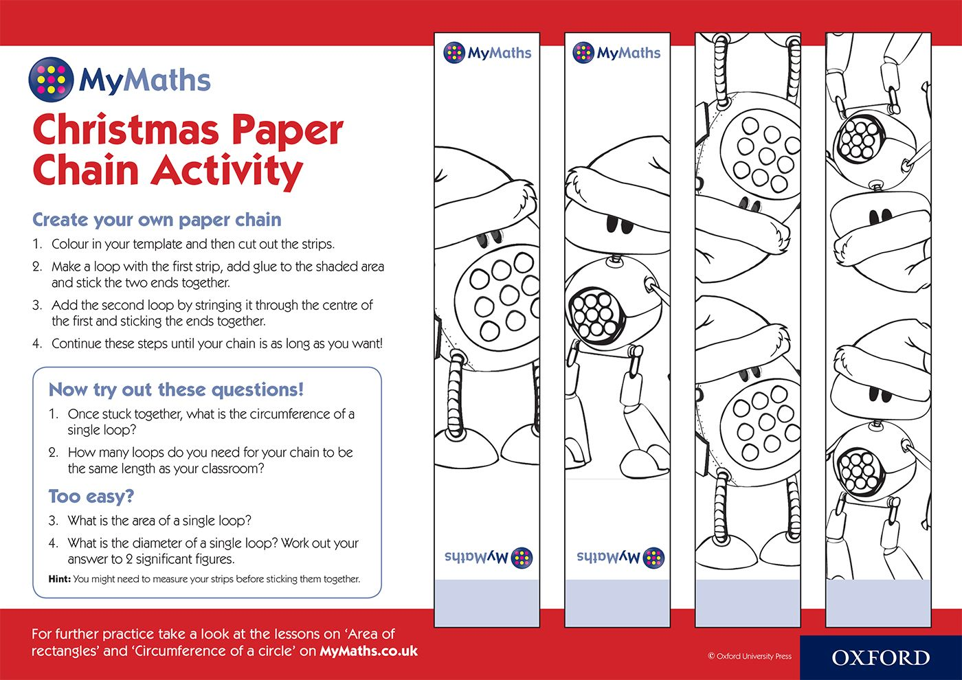 Mymaths Christmas Paper Chain