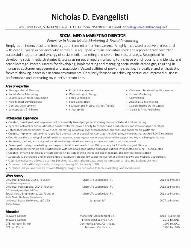 40 social media manager resumes in 2020