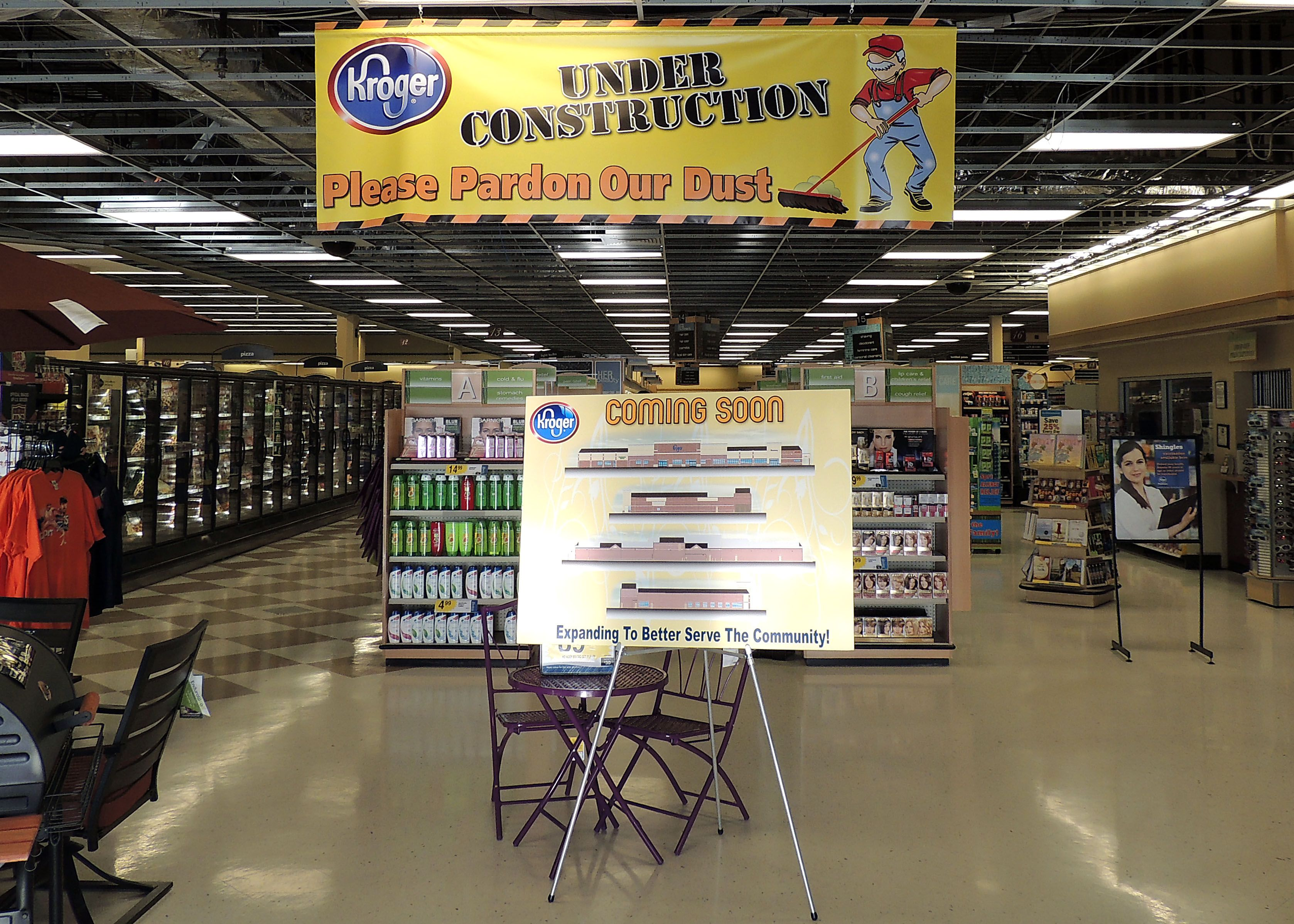 Interior Department Signs And Banners For Kroger Food Stores - Vinyl banners with pole pocketssignbanner printing