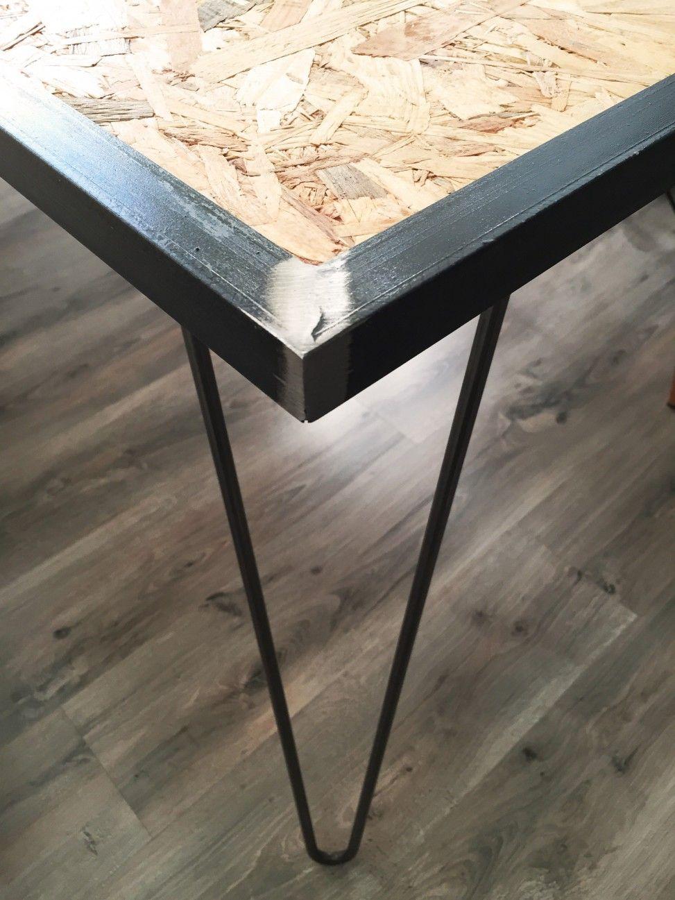 mesa osb y hairpinlegs mesas pinterest. Black Bedroom Furniture Sets. Home Design Ideas