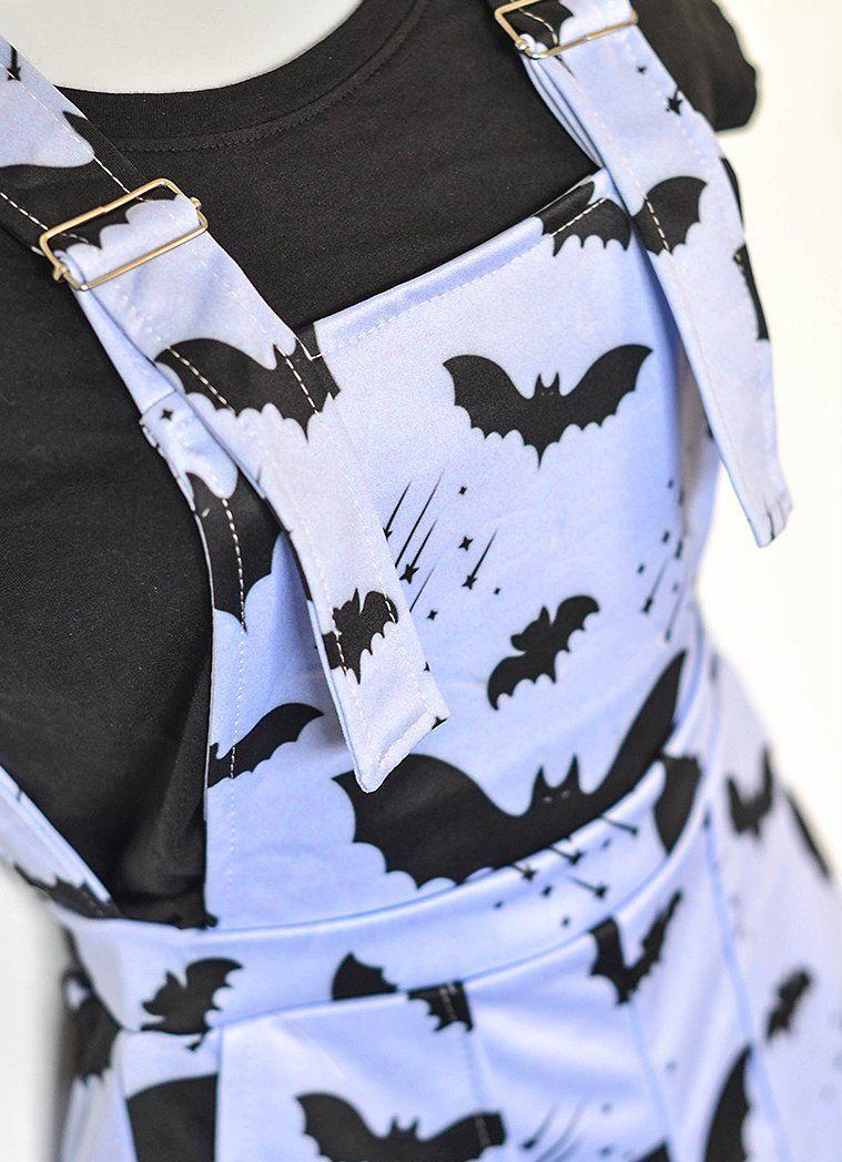 Bat Pattern Overalls -   diy Clothes goth
