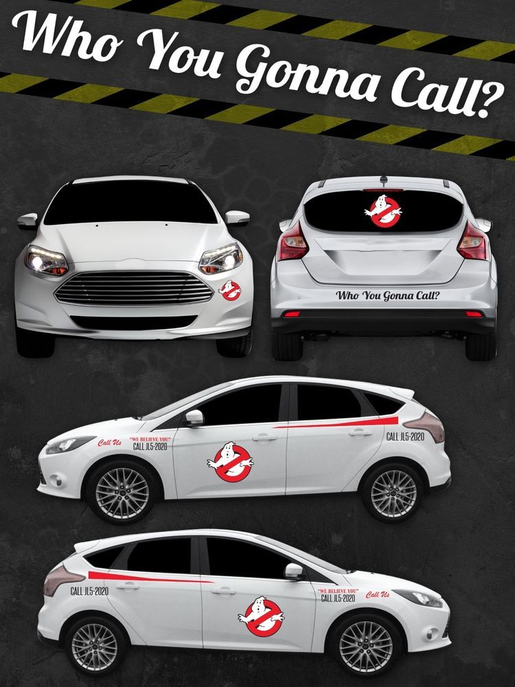 Ghostbusters ecto 1 custom vinyl decal sticker kit vinyl car door hood sticker ghostbusters