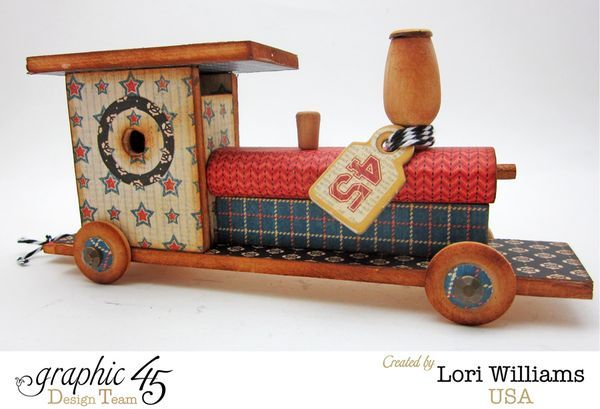 Good Ol' Sport Graphic 45 Train by Lori #graphic45