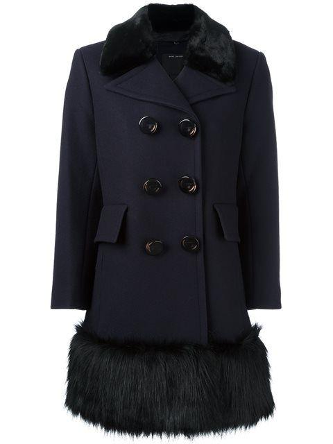 MARC JACOBS faux fur hem coat. #marcjacobs #cloth #coat