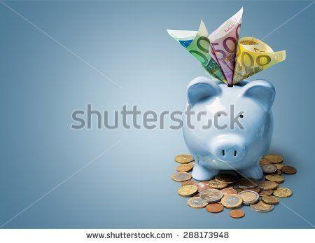 Euro, money, piggybank.