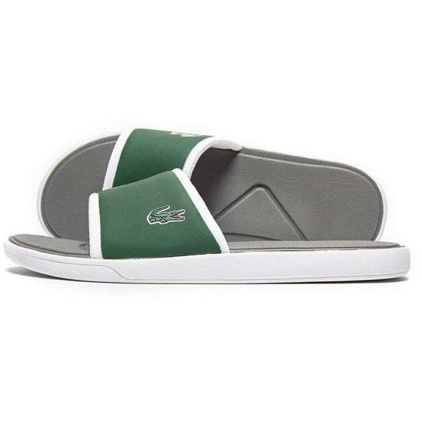 Lacoste L30 Slide ($46) ❤ liked on Polyvore featuring men's fashion, men's  shoes