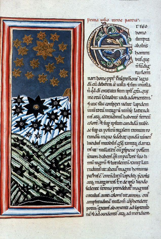 Hildegard of Bingen Scivias Codex: Book III First Vision German Romanesque 1165 Weisbaden, Landesbib. Ms. Scivias Codex