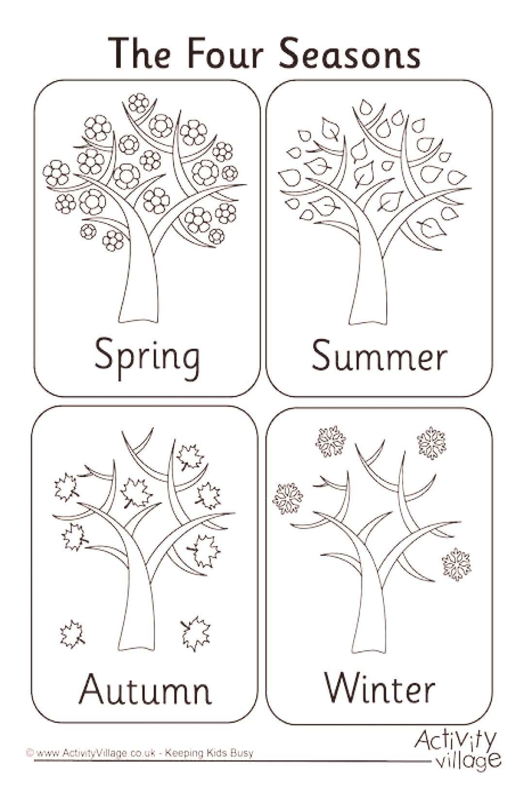 Colouring Seasons Four Page Four Seasons Colouring Pageyou Can Find Four Seasons And More On Our Seasons Worksheets Seasons Kindergarten Seasons Preschool [ 1620 x 1080 Pixel ]