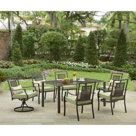 better homes and gardens bramblewood 7 piece patio dining set seats rh pinterest co uk