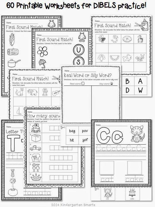 Kindergarten Dibels Practice Worksheets And Activities Cwork