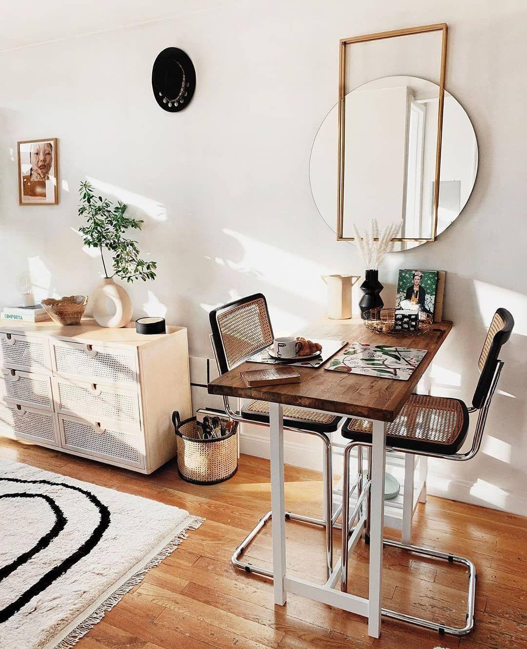 "𝐈𝐧𝐭𝐞𝐫𝐢𝐨𝐫𝐲𝐞𝐬𝐩𝐥𝐳 ® on Instagram: ""Love them both🤎 . . 📷: @viktoria.dahlberg & @reserve_home . . #interioryesplz #diningroomdecor #smallspacesquad #smallspaces…"""