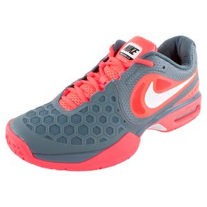 new arrival 7c276 67e5f ... NIKE Men`s Air Max Courtballistec 4.3 Tennis Shoes Red and Gray ...