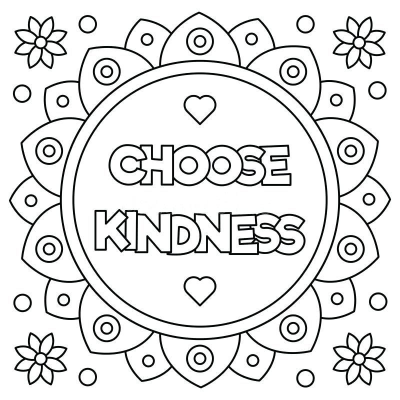 Home Improvement Kindness Coloring Pages Coloring Page