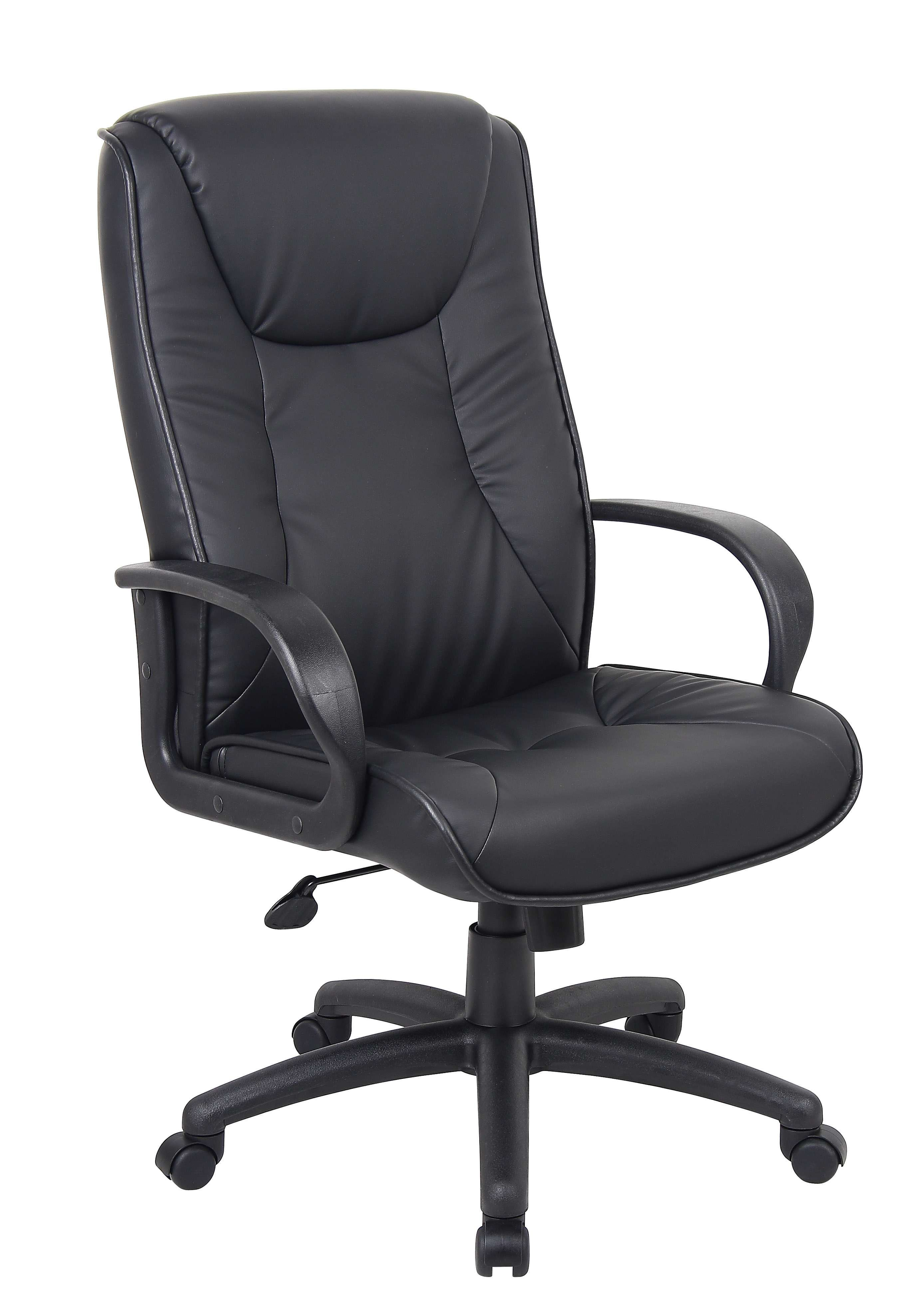 Lowest Price On Boss Office Products Chairs Work Black High Back Chair B9831 Shop Today Black Leather Office Chair Leather Office Chair Boss Chair