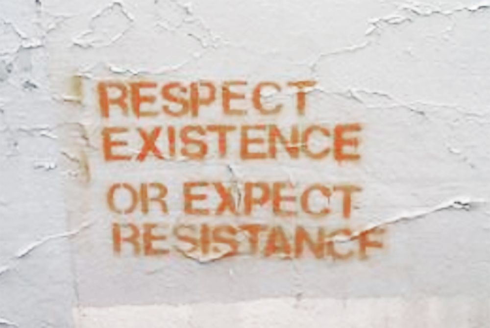 Respect Existence Or Expect Resistance Words Orange Aesthetic