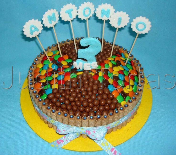 Tortas de chocolate con golosinas buscar con google for Decoracion de tortas faciles