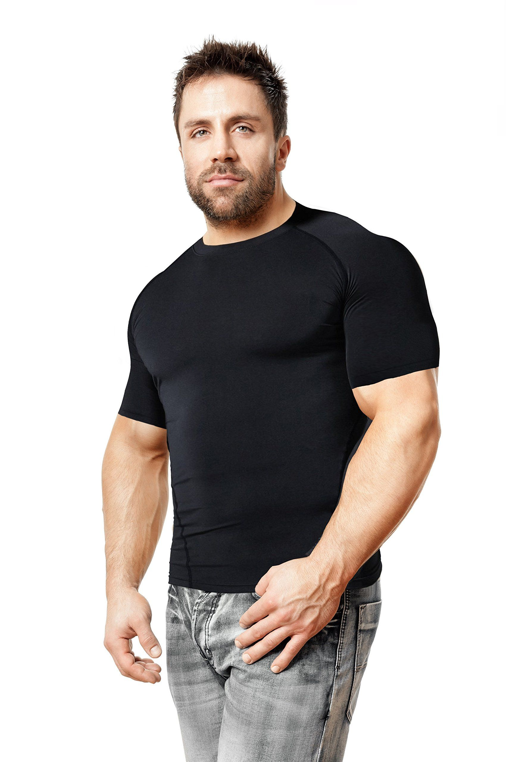 Copper compression short sleeve mens recovery t shirt