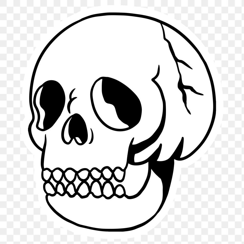 White Skull Sticker With A White Border Free Image By Rawpixel Com Tvzsu In 2020 Skull Sticker Free Illustrations Free Png