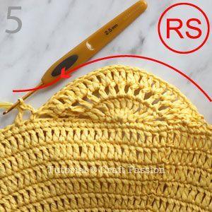 Fourre-tout à motif de crochet • Patrons gratuits au crochet   – torebki