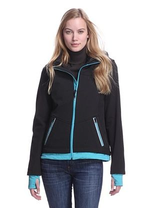 b1cb2e71592c44413e37ee817e9dabe1 63% off halifax women's softshell two fer jacket (black aqua,Womens Clothing Halifax