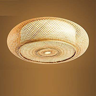 WAWZW Deckenlampe Japanische Bambus Rattan Töpferei