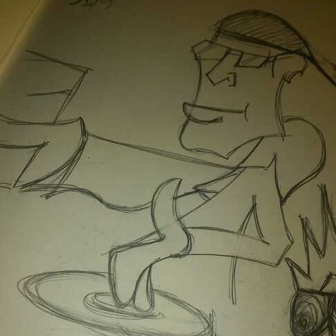 Hip hop ya don' stop Bastardised sketch from Subway Art. Original artist unknown Pencil on 150gm cartridge paper Artist - Griz