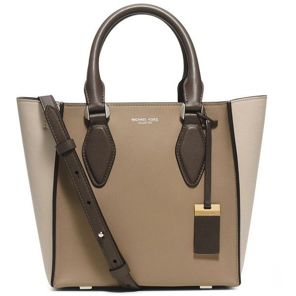 Michael Kors Collection Gracie Small Leather Tote in Dune