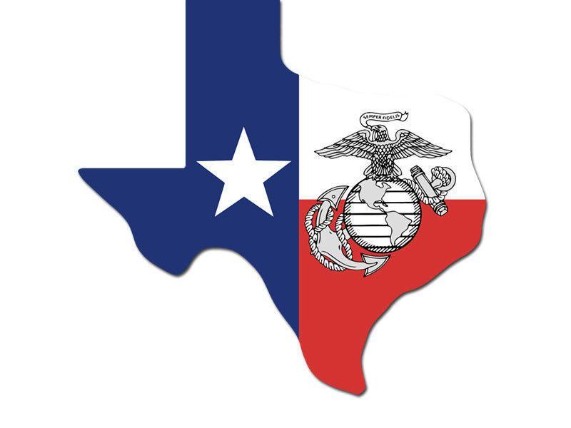 Texas usmc map flag marine Sticker silhouette decal usa military Aufkleber decal
