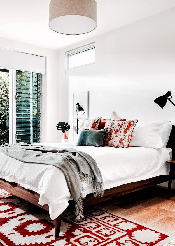 Never Thought Of Having Red In A Bedroom But I Really Like This