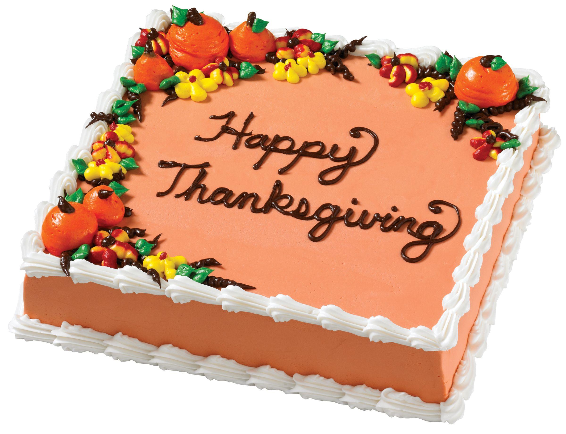 Thanksgiving Square Cake