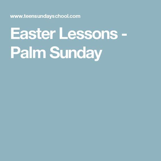 Easter Lessons Palm Sunday Sunday School Pinterest Palm