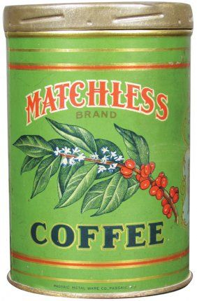 Rare Matchless Brand 1# Coffee Tin. Charles E. Moody  Co. Boston, Mass.
