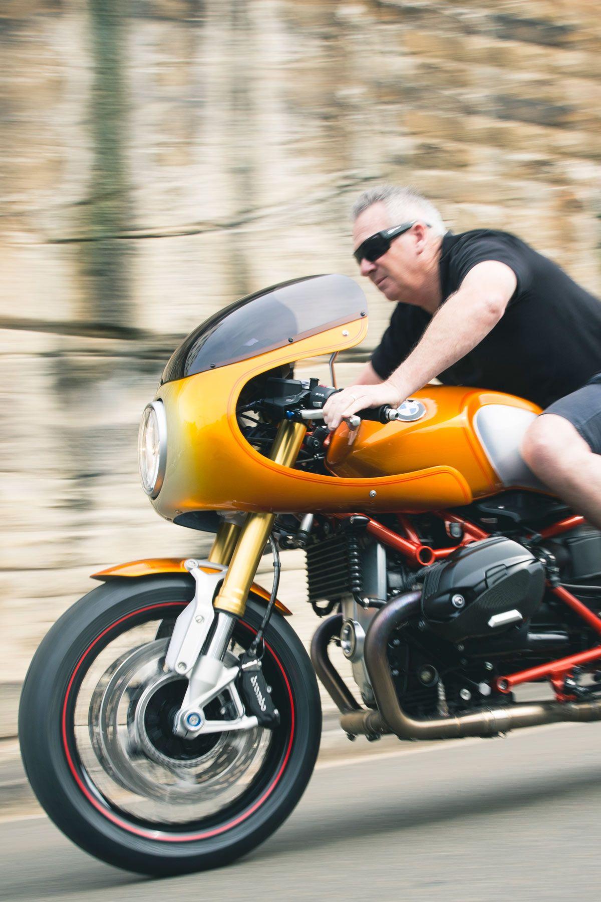 bike biz bmw rninet cafe racer r90 bmw motorrad orange | bmw ninet