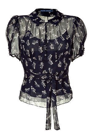 58ab0ff826 POLO RALPH LAUREN Suplice floral printed silk georgette top. I think this  is just such a sweet top.