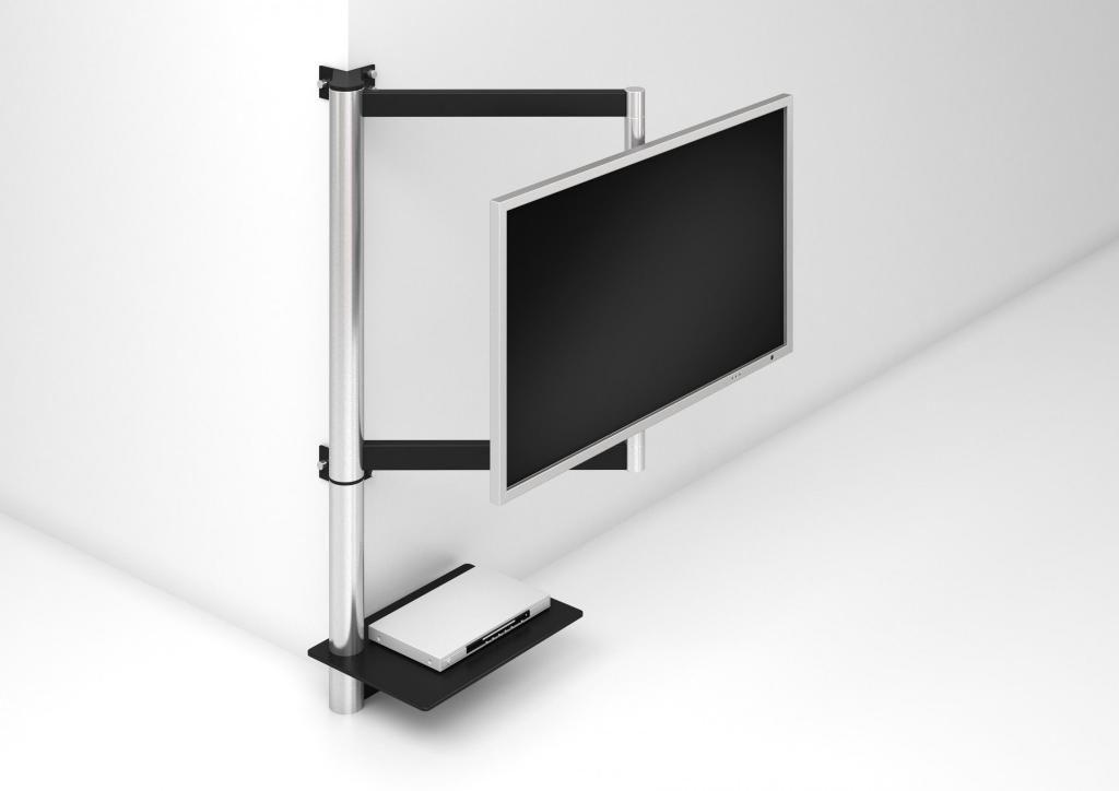 tv halter solution art112 produktdesign wissmann raumobjekte tv stange pinterest. Black Bedroom Furniture Sets. Home Design Ideas