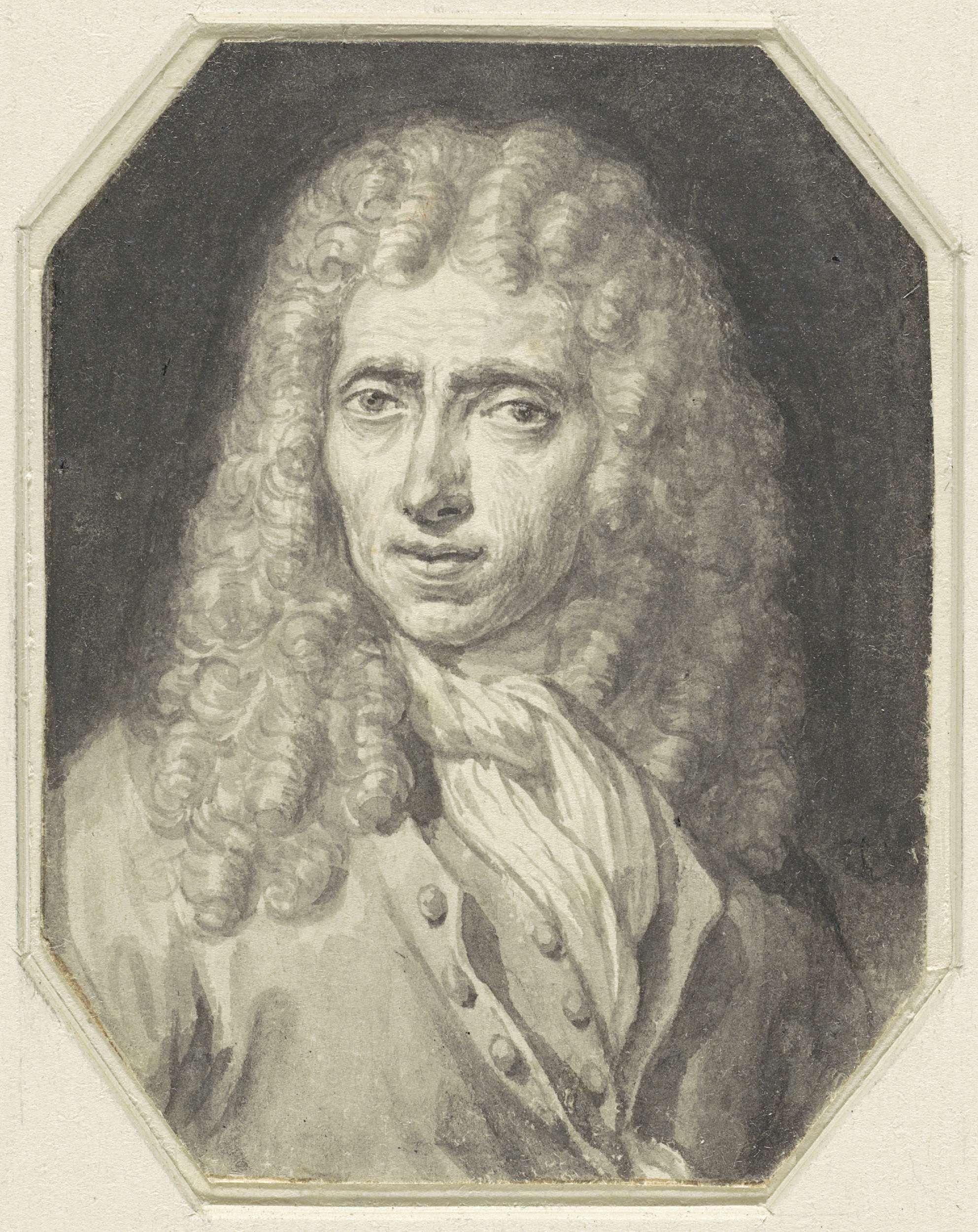Arnold Houbraken   Portret van de schilder Johannes Voorhout, Arnold Houbraken, Christiaan Julius Lodewijk Portman, 1670 - 1719  