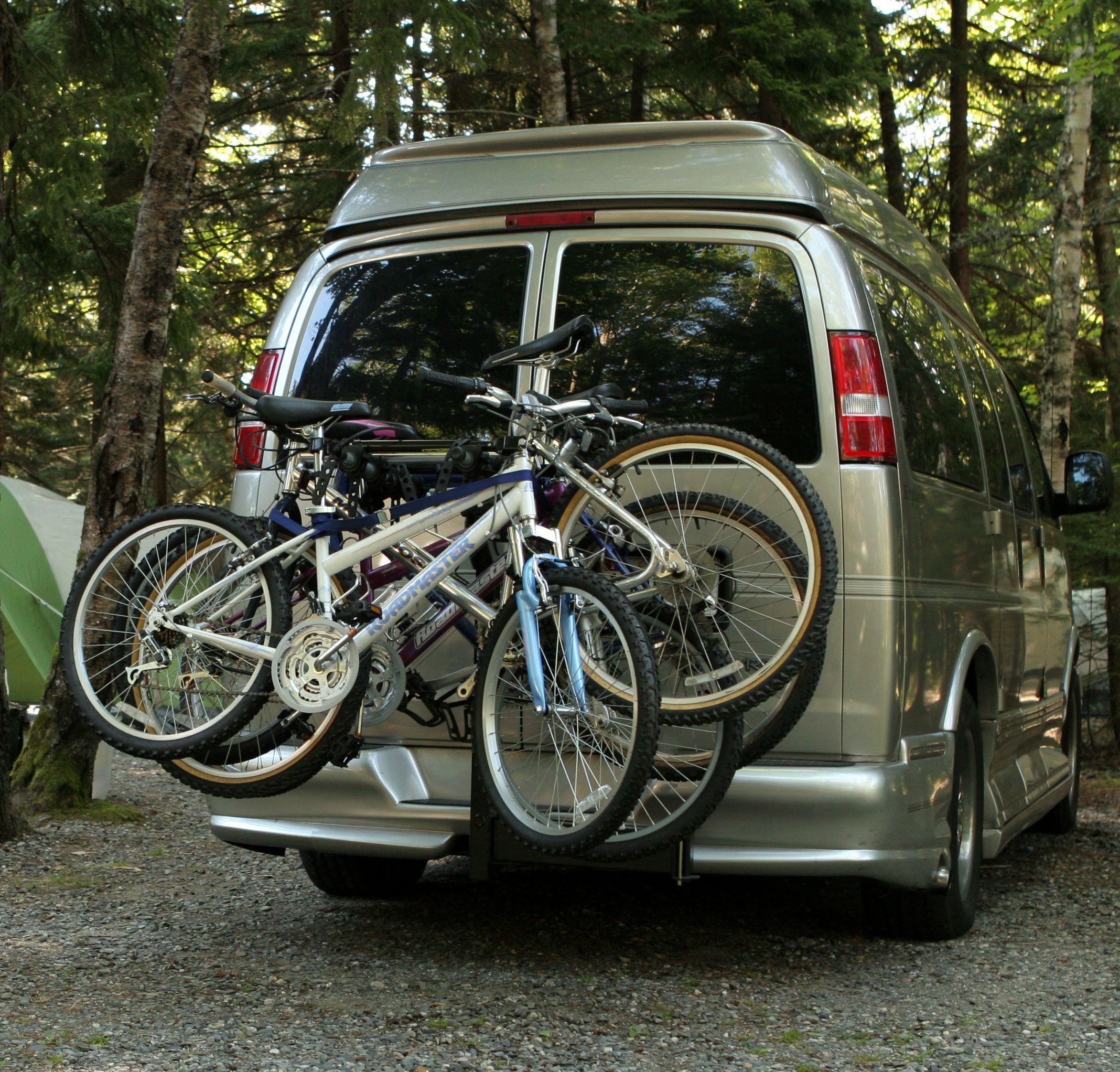 Conversion Van And Thule Swing Away Bike Rack Bike Rack Bike