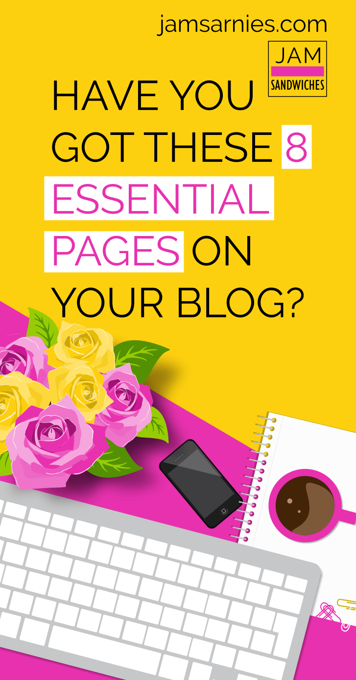 Have you got these 8 essential pages on your new blog? You'll definitely need them if you want to start blogging for money!