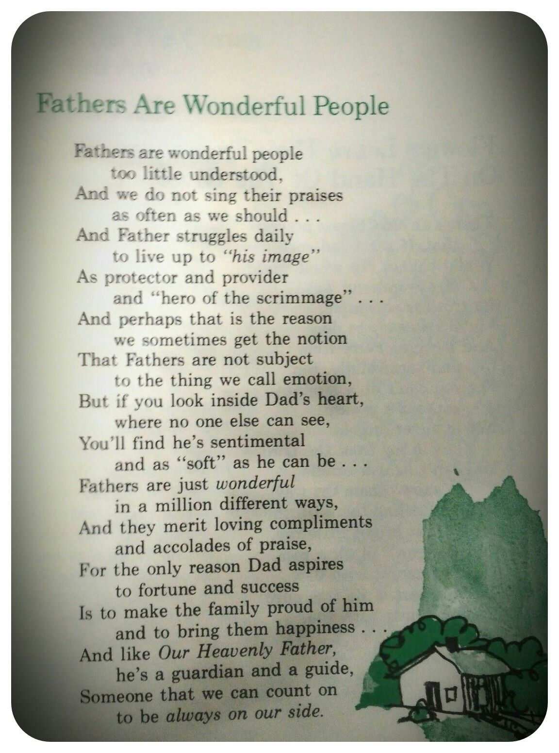 Faith Family Friends Poem - Year of Clean Water