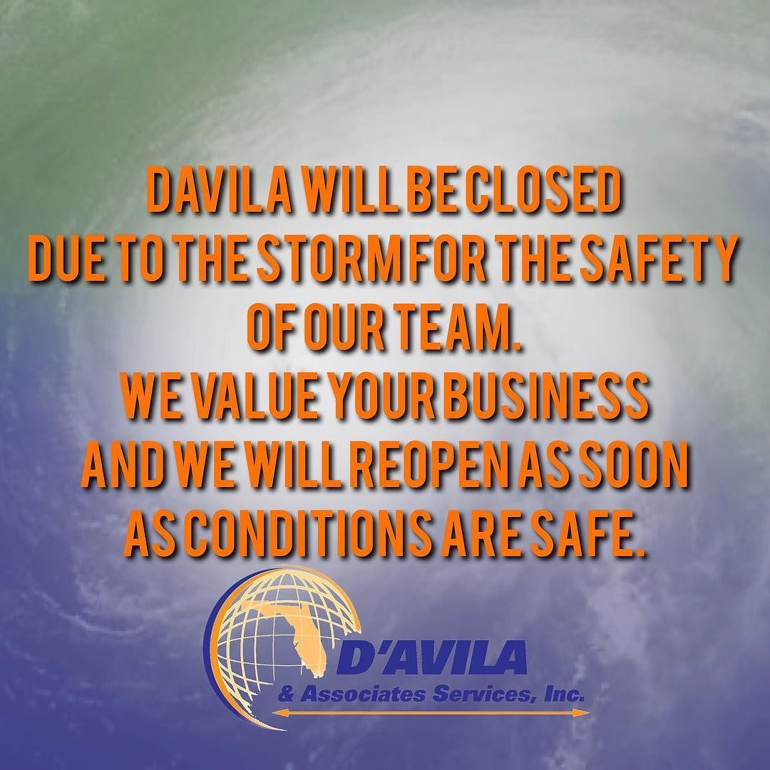 Important information Davila will be closed Due to the