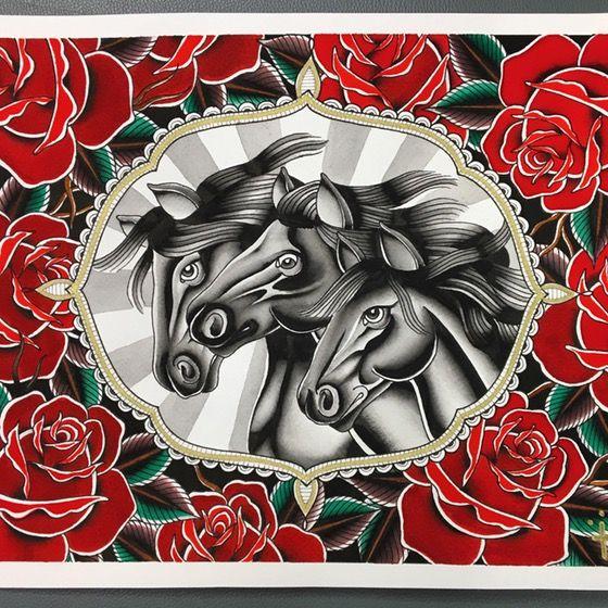 """Image of Jessamyn Felker """"Pharaoh's Horses"""" Print"""