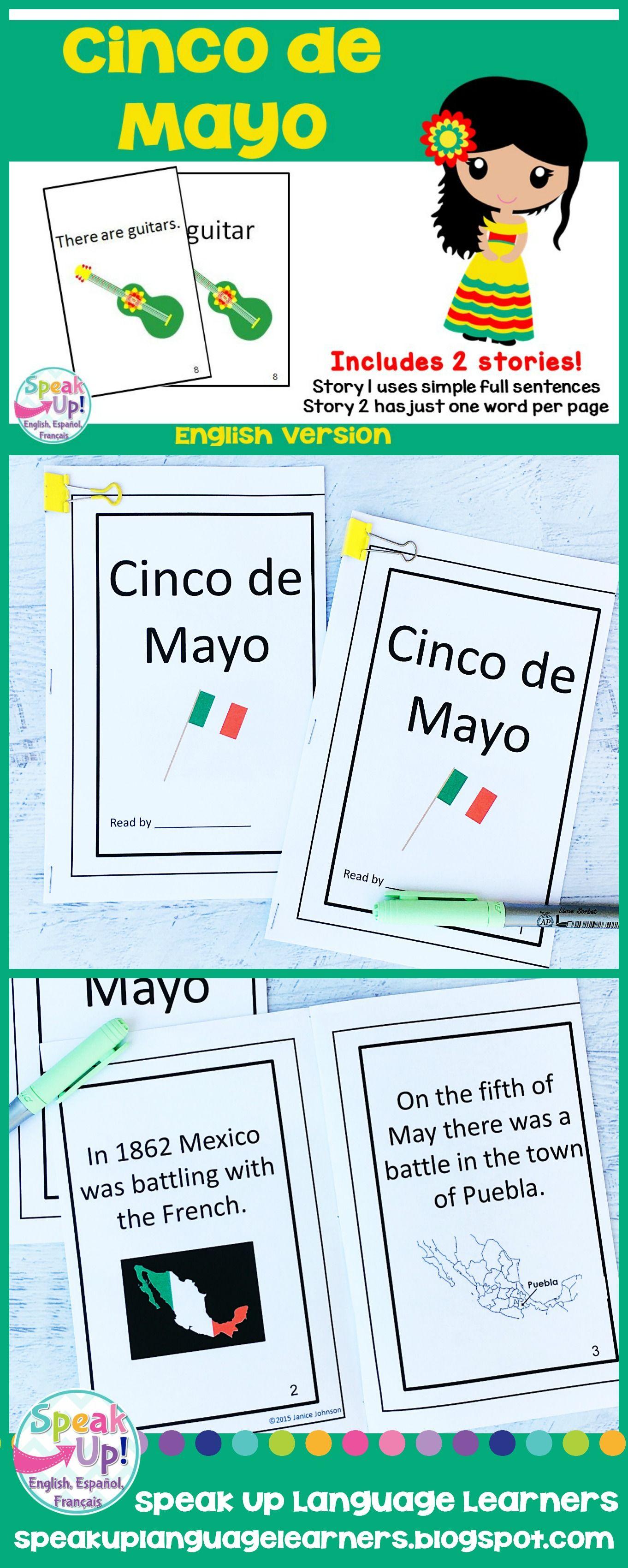 Cinco De Mayo Emergent Reader English Version